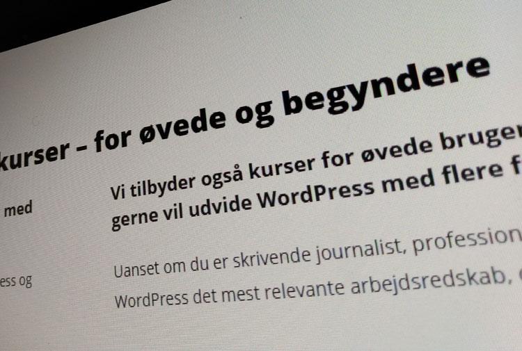 WordPress kurser - 9bureau kurser